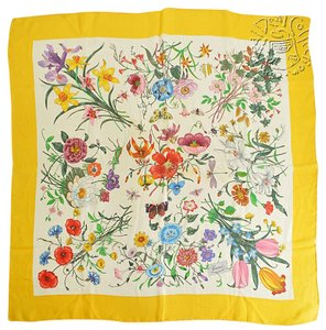 Gucci RDC6123 Gucci V. Accornero Yellow Multi Flowers Scarf