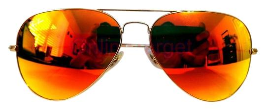 Ray Ban Orange Flash Aviator Rb3025 11269 Matte Gold Frame Lens New Sunglasses 44% off retail