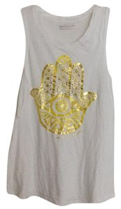 Spiritual Gangster Top White/Gold