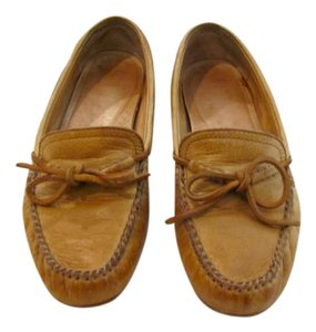 Frye Leather Moccasin Loafer Cognac Flats