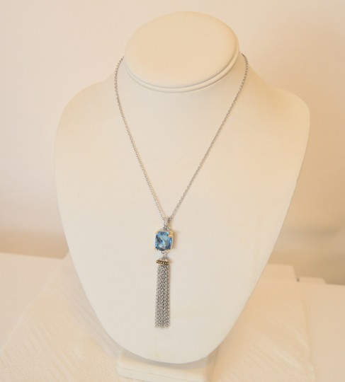 Other Emma Skye Colored Crystal Tassel 2-Tone Necklace 16