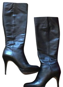 Vince Camuto Kneehigh Black Leather Boots