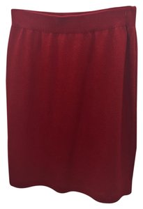 St. John Knit Skirt Red