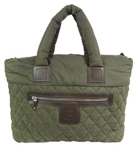 Chanel Coco Cocoon Tote in Khaki Green
