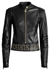 Versace for H&M Motorcycle Designer Leather Jacket