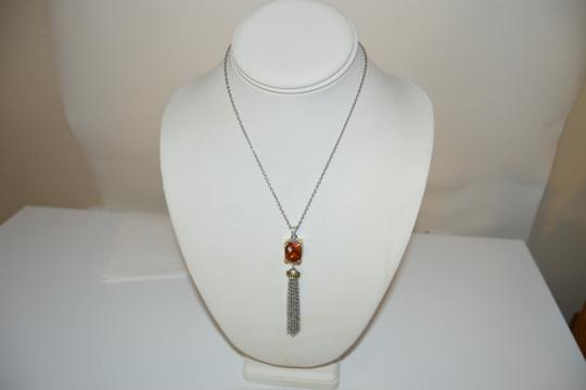 Other Emma Skye Colored Crystal Tassel 2-Tone Necklace