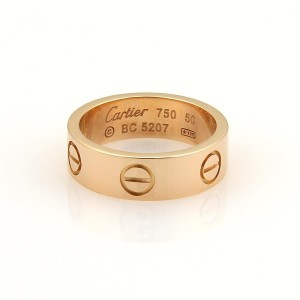 Cartier Cartier Love 18k Rose Gold 5.5mm Wide Band Ring 50- 5.25