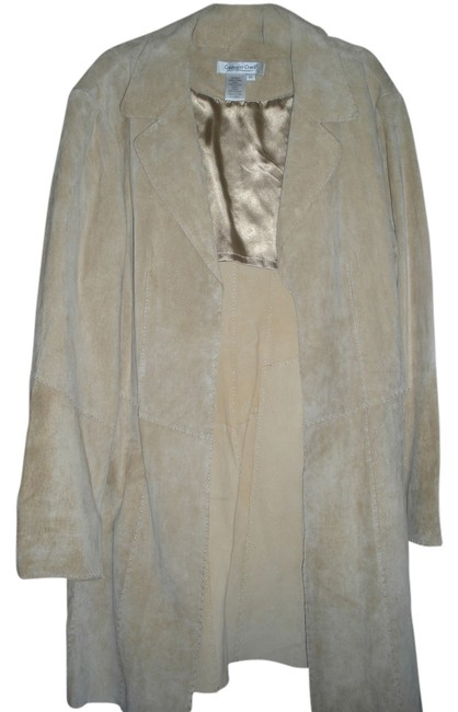 Coldwater Creek Suede camel Leather Jacket