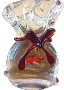 Murano Italian Glass Fish in a Bag