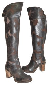 Donald J. Pliner Wedge Heel Western ESPRESSO BROWN Boots