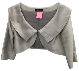 Rickie Freeman for Teri Jon Bolero Evening Silk Grey Jacket