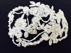 Bel Aire Bridal Lace Pearl & Beaded Hair Cap