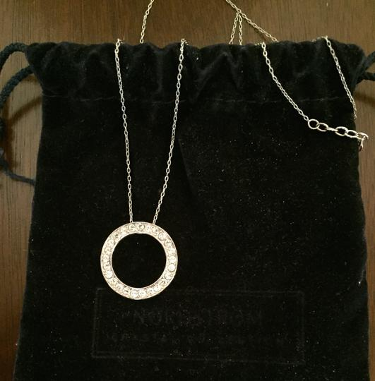 Preload https://img-static.tradesy.com/item/17765005/nordstrom-silver-with-circle-pendant-of-czs-necklace-0-0-540-540.jpg