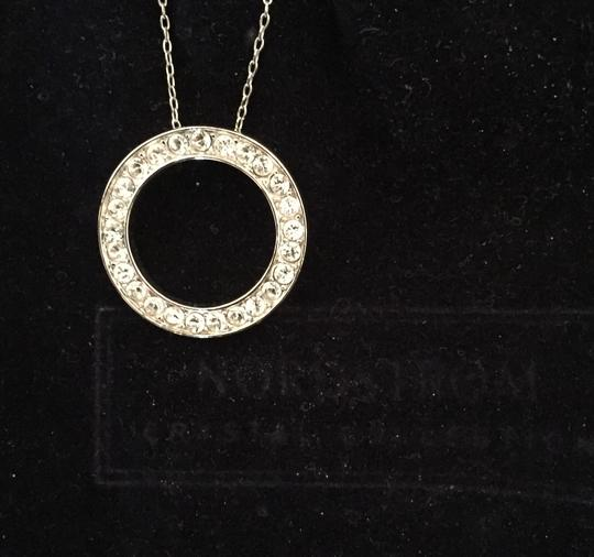 Nordstrom Silver With Circle Pendant Of Czs Necklace