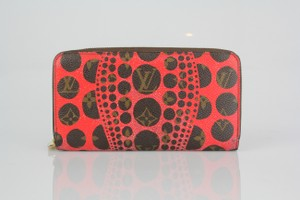 Louis Vuitton Louis Vuitton Limited Edition Rare Monogram Red Long Zip Wallet
