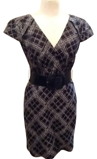 Preload https://img-static.tradesy.com/item/1776546/antonio-melani-black-and-white-with-metallic-on-used-once-knee-length-workoffice-dress-size-2-xs-0-0-650-650.jpg