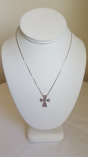 Levonian Jewelry 18K White Gold and Ruby Cross Necklace