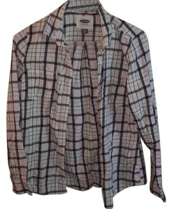 Old Navy Button Down Shirt Black, Light Pink, Brown ans Teal