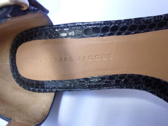 Marc by Marc Jacobs Leather Striped Ivory/Black Platforms