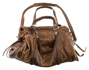 Junior Drake Leather Boho Bohemian Leather Hobo Bag