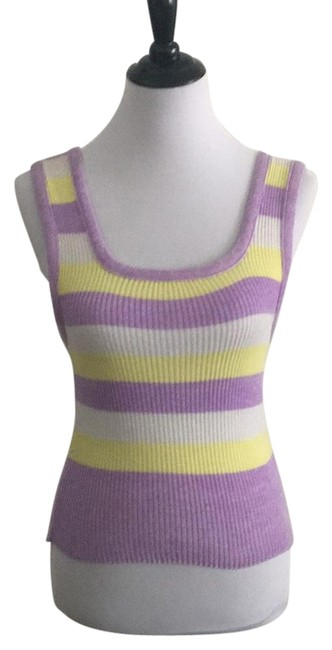Preload https://img-static.tradesy.com/item/17766250/purple-white-yellow-knit-striped-tank-topcami-size-6-s-0-1-650-650.jpg