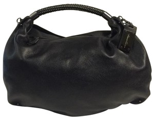 10d64918b3 Added to Shopping Bag. Kenneth Cole Hobo Bag. Kenneth Cole No Slouch  Studded Handle Soft Black Leather ...