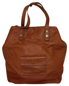 J.Crew Leather Satchel Saddle Tote in Henna