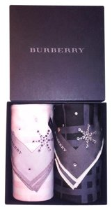 Burberry Burberry Pink Black BLING Snowflakes Square Wraps Set w/ Gift Box