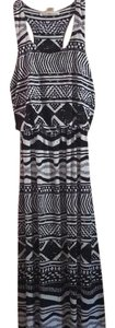 black and white Maxi Dress by Derek Heart