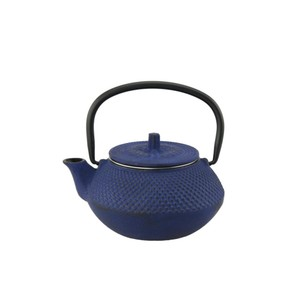 Hues N Brews Hobnail Bluetetsubin Cast Iron Teapot