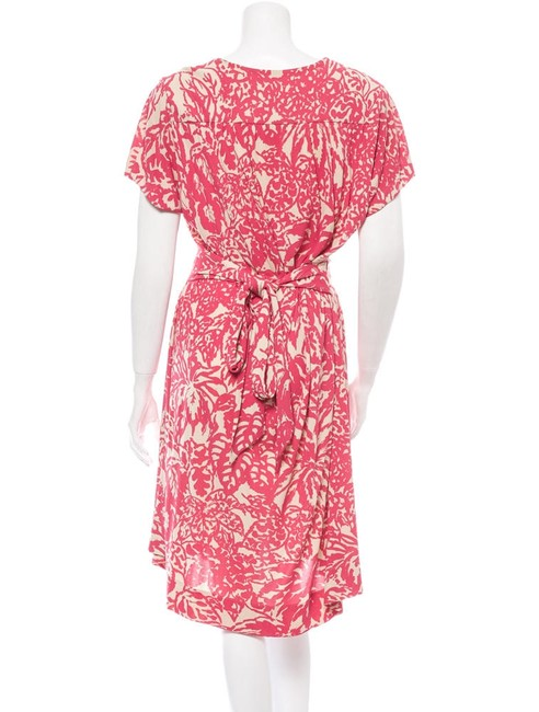 Balenciaga short dress coral/cream Floral on Tradesy