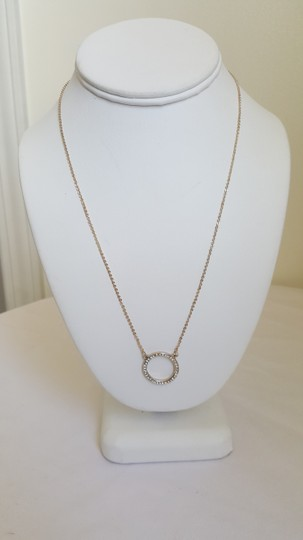 White House | Black Market WHBM Gold and Diamond Ring Necklace