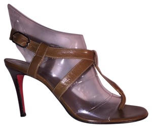 Christian Louboutin mocha brown Pumps