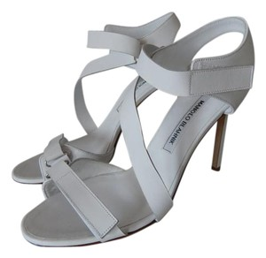 Manolo Blahnik Strappy Louboutin white Sandals