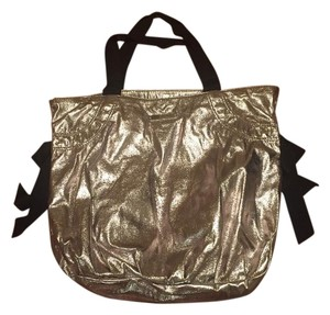 Juicy Couture Exercise Textured Metallic Silver Beach Bag