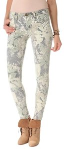 Current/Elliott Safari Print Tropical Printed Vintage Skinny Jeans