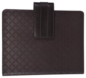 Gucci NEW Gucci 283782 Brown Leather Diamante iPad Case Cover