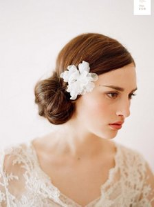 BHLDN Two Twigs And Honey Silk Flowers No. 209 - Blush And Ivory