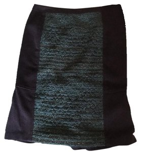 Tory Burch Skirt Navy blue/ dark green