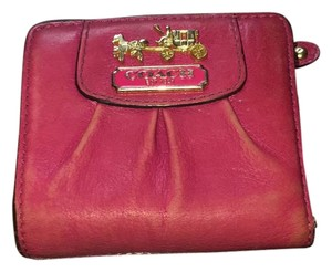 Coach Pink Leather Coach Wallet