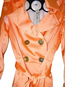 Cache Orange Bright Gold Buttons Coral Jacket