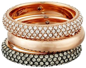 Michael Kors Nwt. Sz. 7, Rose Gold Park Avenue Glam Stack Rings