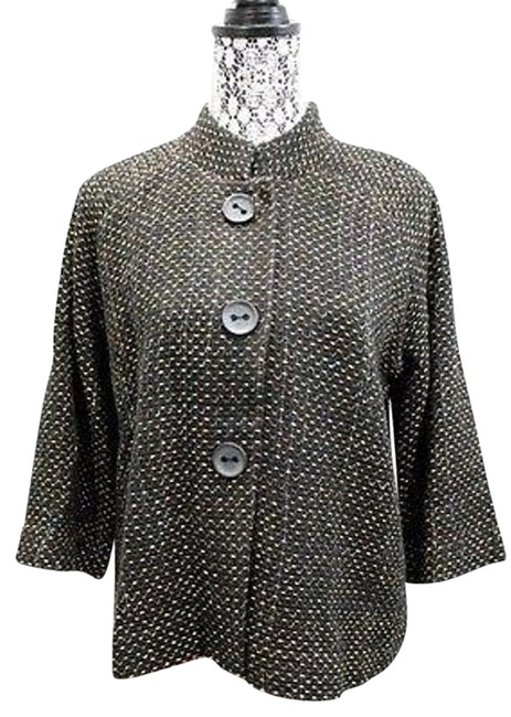 Preload https://item1.tradesy.com/images/jm-collection-tweed-34-sleeved-jacket-large-blouse-size-petite-12-l-17768365-0-1.jpg?width=400&height=650