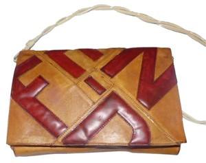 Fendi Gold Hardware Two-way Style Punk 'graffiti' Look Removable Strap Xl Size Clutch Shoulder Bag