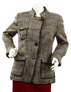 Zara Tweed Brown Jacket Blazer