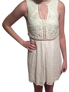 Very J short dress Off white on Tradesy