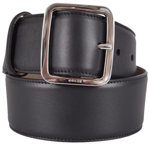 Gucci New Gucci Women's 354376 Smooth Black Leather Belt 26 65 XS