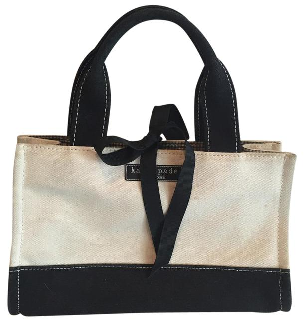 Item - Beige and Black Canvas Tote