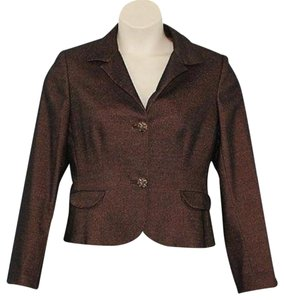 Albert Nipon Metallic Jacket Blazer