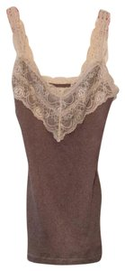 Abercrombie & Fitch Top Light Brown with Ivory lace